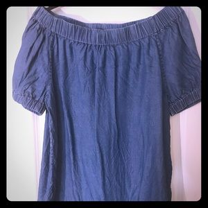 Michael Kors off the shoulder denim top size small